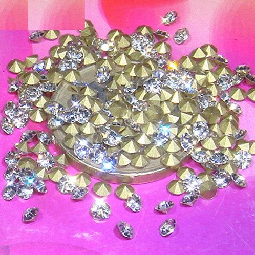 200 Zirconias Cubicas de Cristal 3mm T135