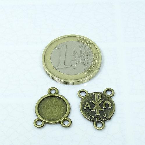 44 Abalorios Medallas 17x13mm T45C