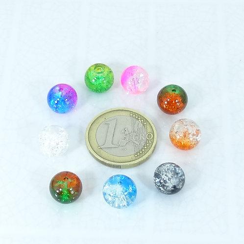 32 Bolas Cristales Variados 10mm M722