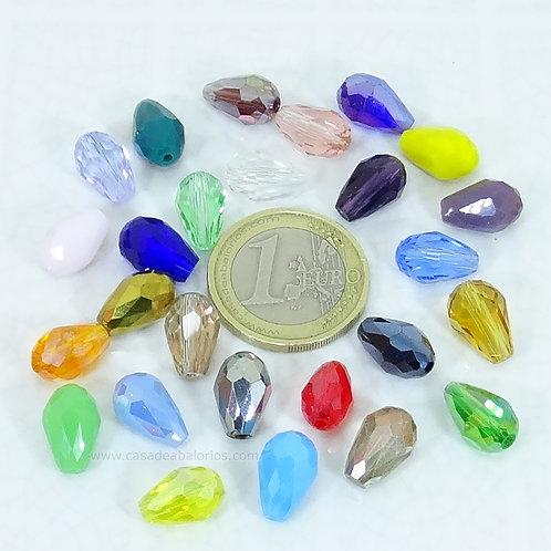 20 Cristales Gota 12X6mm A130
