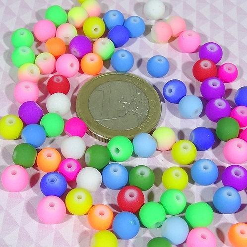 100 Redondos De Cristal 6mm T93X