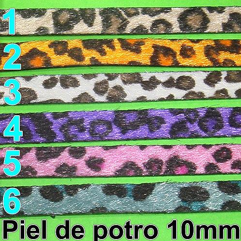 1 Metro Cuero Piel de Potro 10x2mm A167