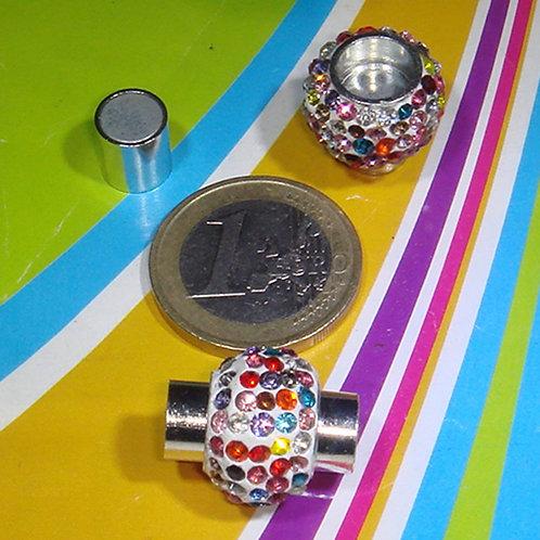 3 Set Cierres Con Cristales 20x16mm T183