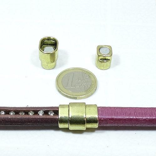 3 Cierres Para Cuero Regaliz 20x15mm T147