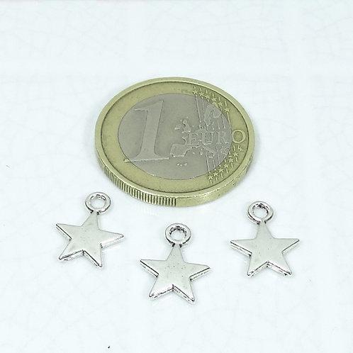 100 Colgantes Estrellas 12x9mm T20X