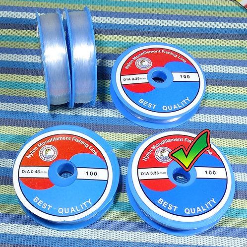 2 Carretes Hilo 0.35mm Transparente Especial Engarce H035