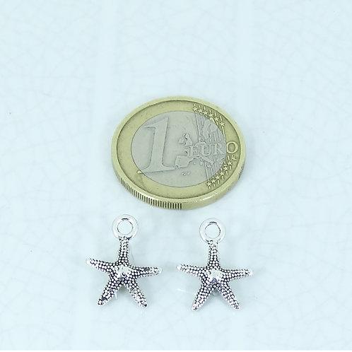 62 Colgantes Estrella de Mar 15x11mm T555H