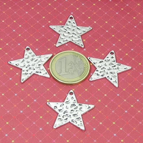 20 Colgantes Estrellas 25mm T458X