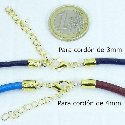 10 Set de Cierres Con Cadena 38x5mm Dorados