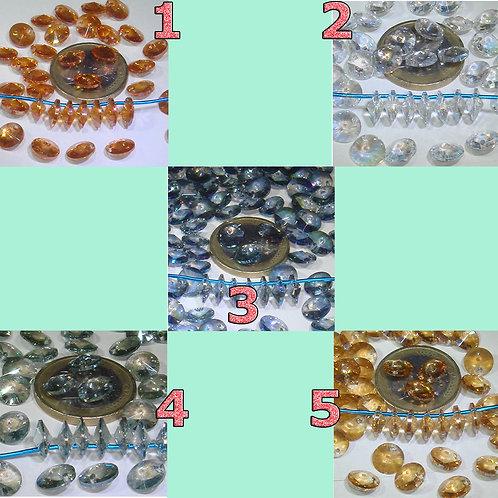 25 Cristales Discos 8x4mm T134A