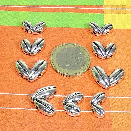 15 Abalorios Para Collar 3 Medidas T410X