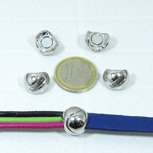 3 Cierres Magnéticos Para Cuero 14mm T548A