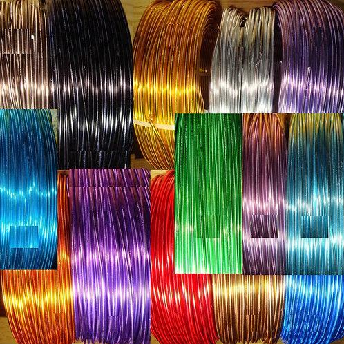5 Rollos Alambre Aluminio 1,5mm 1 Metro por Color