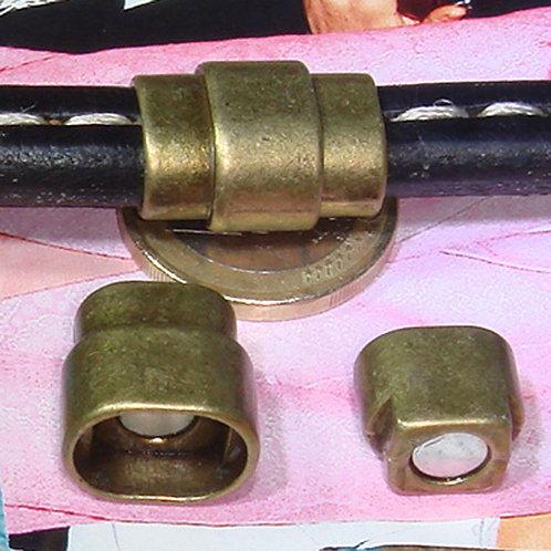 3 Cierres Para Cuero Regaliz 20x15mm T97A