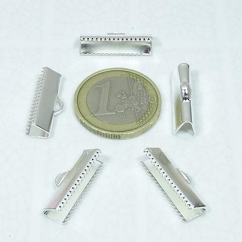 48 Terminales Plateados 20x7mm T266C