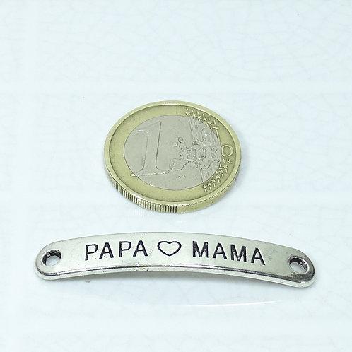 14 Chapas Para Pulsera Papa ♥ Mama 45x7mm T600