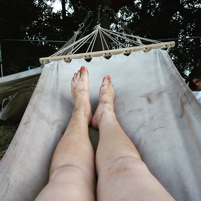 Grubby festival legs in a grubby festival hammock at the end of the day at _latitudefest ._._