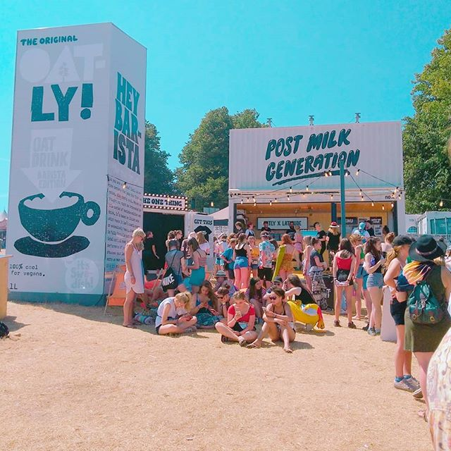 Also the _oatly stand at _latitudefest_I was the last of the morning to get the rad #postmilkgeneration tee_._._