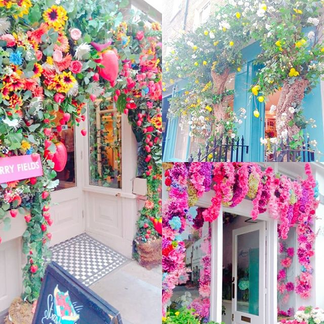 Lots of beautiful floral archways for #chelseainbloom ._._