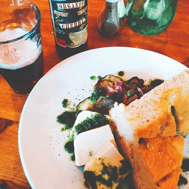 Had this AMAZING #vegan meal at _the78barandkitchen for lunch today