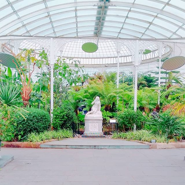 Love this shot of the statue of Eve as you enter the Kibble Palace. ._._
