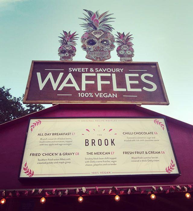 _thebrook #vegan waffles at _latitudefest