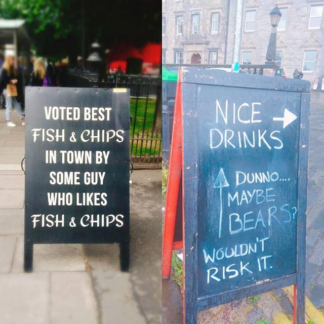 Some quality sandwich boards in Edinburgh today. ._._