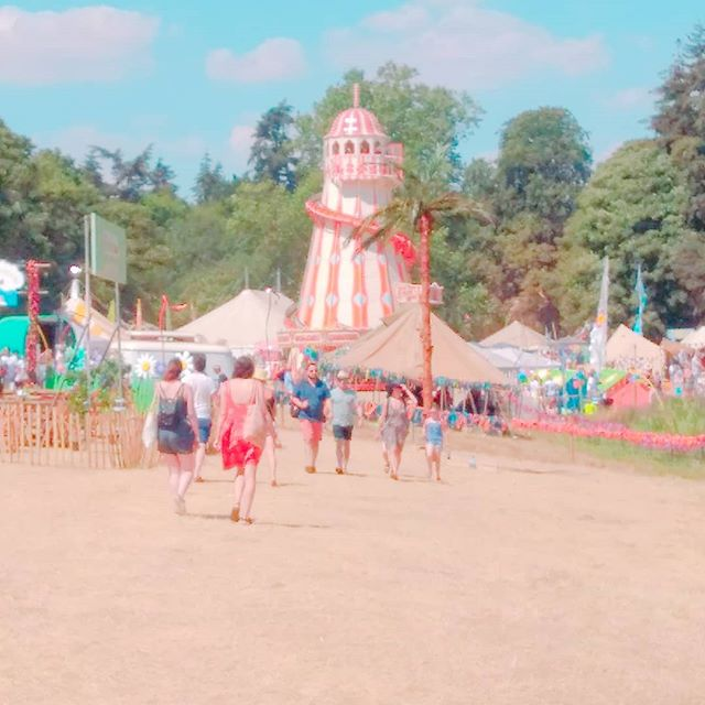 The kids area at _latitudefest is so dreamy. ._._