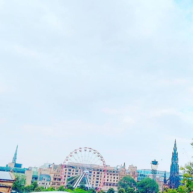Skies over Edinburgh. It is very busy there and too many tourists. Definitely prefer Glasgow. But it was less humid. ._._