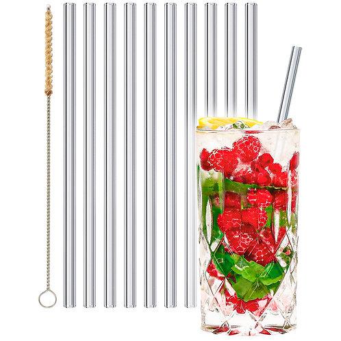 stråwline Glas Strohhalme 10x23cm (gerade) wiederverwendbar