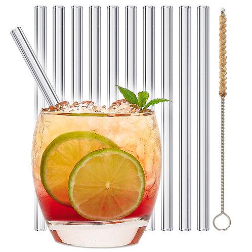 stråwline Glas Strohhalme 10x15cm (gerade) wiederverwendbar
