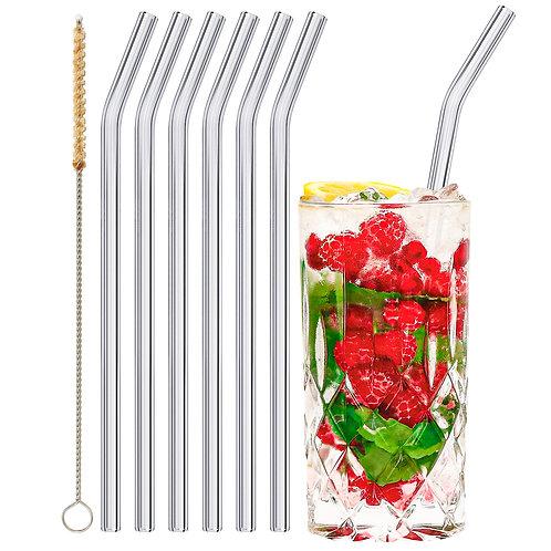 stråwline Glas Strohhalme 6x23cm (gebogen) wiederverwendbar