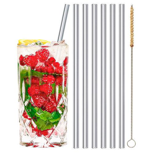 stråwline Glas Strohhalme 6x20cm (gerade) wiederverwendbar