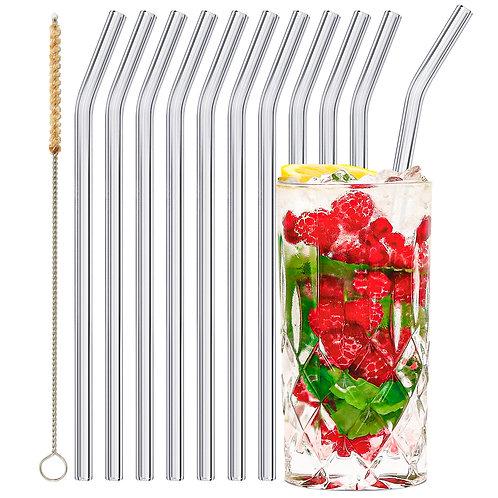 stråwline Glas Strohhalme 10x23cm (gebogen) wiederverwendbar