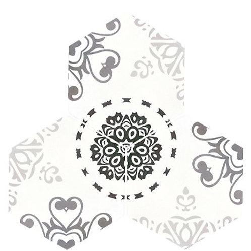 Hexagonal Snowflake Obsidian 200 x 175 x 100mm