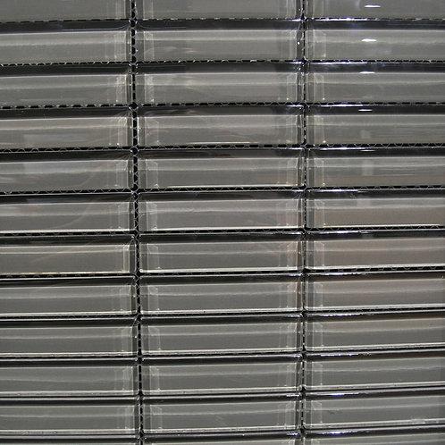 Crystal Fog 8mm Glass Mosaic 23x98mm on a 300x300mm sheet