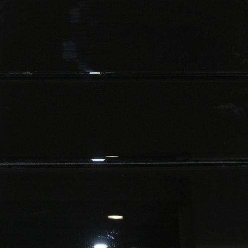Crystal Black 8mm Glass Tile 98x298mm