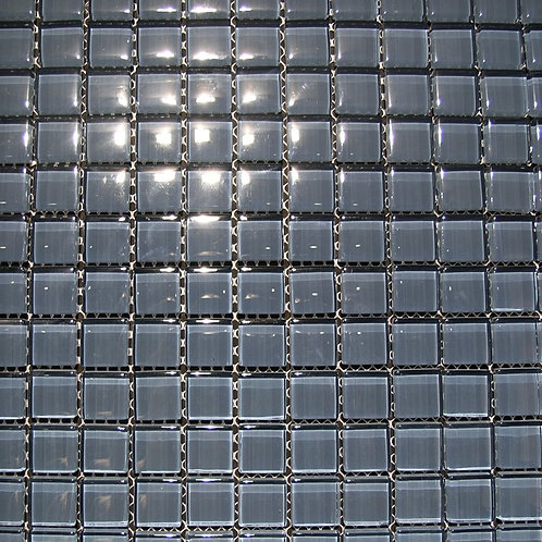 Crystal Oxygen 8mm Glass Mosaic 23x23mm on a 300x300mm sheet