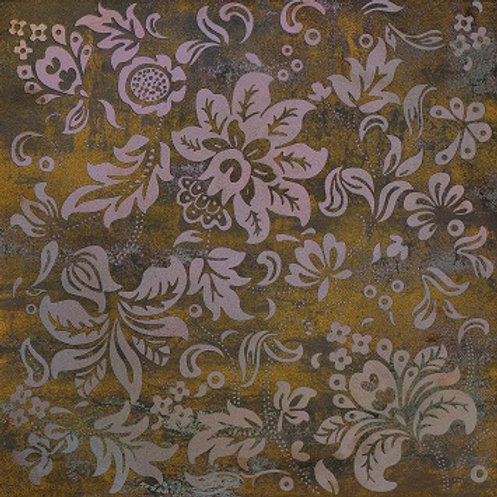 Metal Stone Bronze Floral Feature 600 x 600mm