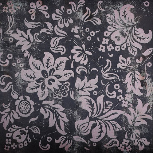 Metal Stone Nero Floral Feature 300 x 600mm