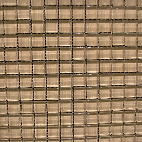 Crystal Beige 8mm Glass Mosaic 23x23mm on a 300x300mm sheet