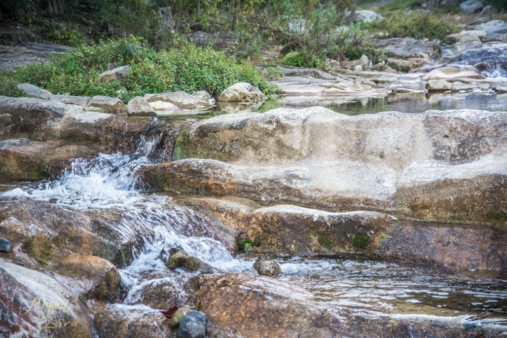 Caída de agua en el Charco Azul