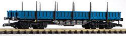 37763 Press V Low-Side Gondola w/Stakes Res, Blue