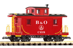 38827 B&O Wood Caboose, #218, Red