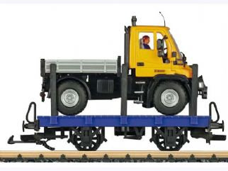 94259 Stake Car with Unimog load