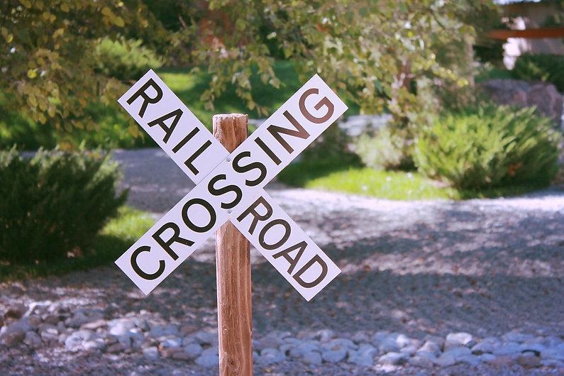 Train Crossing Garden Scale