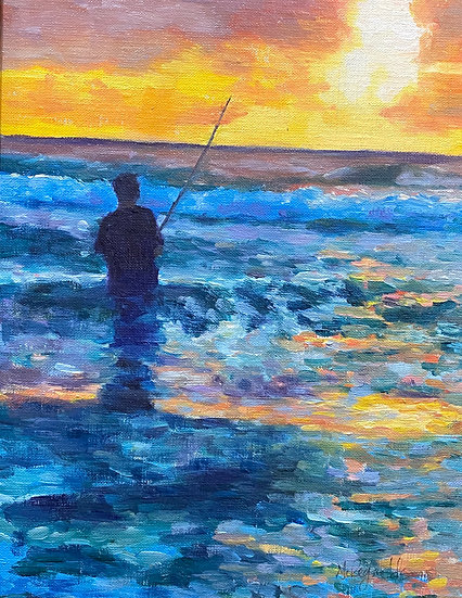 Sunset Fisherman