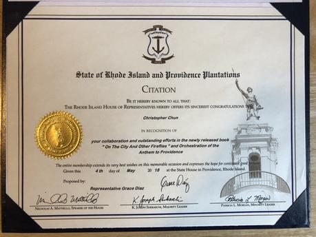 State of Rhode Isalnd Citation