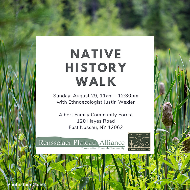 Native History Walk with the Rensselaer Plateau Alliance