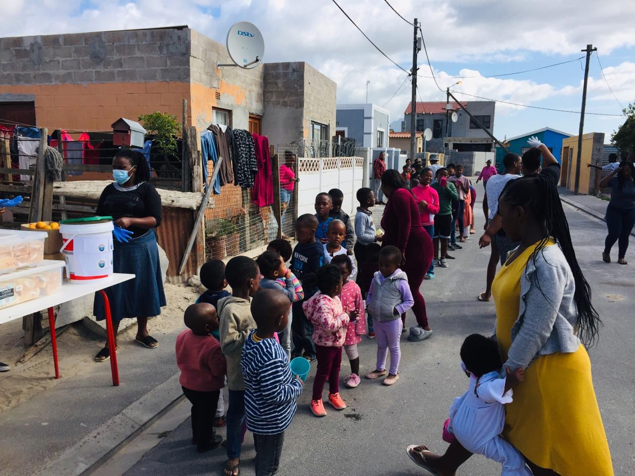 Food distribution in Nyanga during COVID-19 pandemic